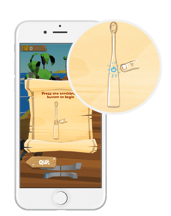 Bluetooth toothbrush and interactive connected app