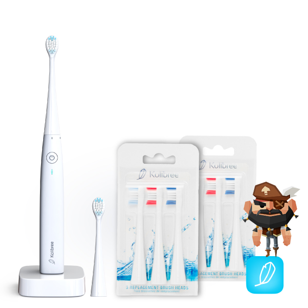 family toothbrush pack and brush heads